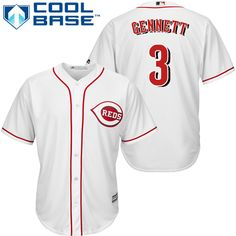 795d48d77 Youth Authentic Home White Cincinnati Reds Barry Larkin Jersey Cool Base MLB  Majestic