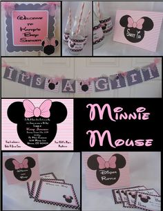 Minnie Mouse Baby Shower Decorations Party in by ASweetCelebration
