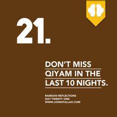 Ramadan Reflections: Day Twenty One