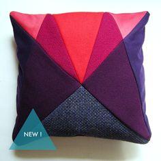 Loooove the geometric design on this cushion <3 | Purple AU After Upholstery cushion. £65.00, via Etsy.