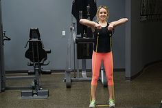 Resistance band upright row workout