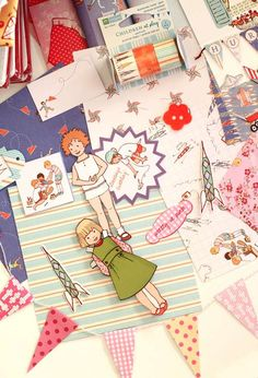 sarah jane fabric and paperdolls...