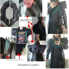 246 best diy lokis costume images on pinterest make up looks jacket detail loki costume solutioingenieria Gallery
