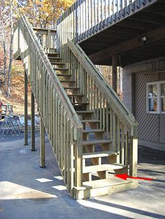 Nice Article About Building Stairs For A Second Story Deck.