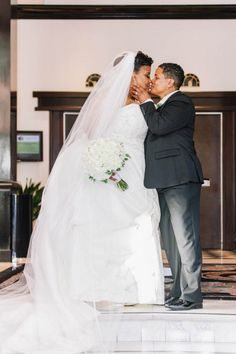 Green White and Black Wedding at Hotel Shattuck Plaza, CA