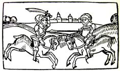 medieval woodcuts knight - Google Search