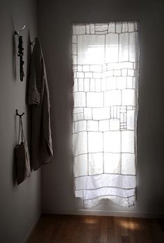 Fog Linen Yumiko Curtain from linen remnants  // Remodelista