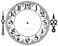 Best Photos of Gothic Clock Face Printable Template - Free Clock Face Template, Clock Face and Printable Clock Hands Template Clock Template, Face Template, Clock Clipart, Clock Face Printable, Clock Drawings, Clock Tattoo Design, Clock Tattoos, Watch Tattoos, Mechanical Clock