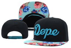 2013 new fashion dope floral adjustable baseball snapback hats and caps for men/women flower brim sports hip hop cap 3 color-in Apparel & Ac...