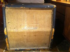 Vintage (mid 60's) Marshall-Hiwatt Basketweave 4x12 Cabinet | eBay That's what I call VINTAGE!