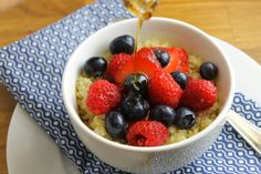 Be adventurous and try something different this morning. Quinoa with berries & nuts http://bit.ly/1UCu687