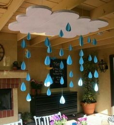 The water cycle-great decoration for the classroom!