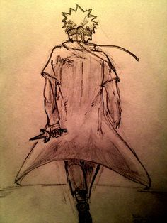 """Going to War."" Sketch of Naruto"