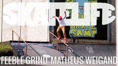 Feeble Grind | Tutorial #SKATELIFE | Matheus Weigand - http://DAILYSKATETUBE.COM/feeble-grind-tutorial-skatelife-matheus-weigand/ - Feeble Grind | Tutorial #SKATELIFE | Matheus Weigand Nesse vídeo, o skatista Matheus Weigand dá dicas do feeble grind, manobra básica que pode ser adaptada à diversas situações. O tutorial foi gravado na pista do acampamento Brasil Skate Camp, no interior de São Paulo. Encontre-nos: Facebook: https - feeble, grind, matheus, skatelife, tuto
