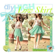 """""""DiY High Low Skirt"""" by the-tip-nerds on Polyvore"""