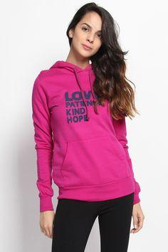$14.00 - LOVE Print Hooded Sweatshirts Pullover Top