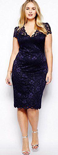 Women Midi V-neck Floral Bodycon Pencil Dress Plus Size Clothing (L), http://www.amazon.com/dp/B00WW2SLNW/ref=cm_sw_r_pi_awdm_0IwTwb0BCE83G