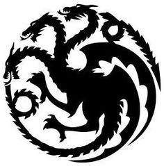 """Targaryen Dragons Vinyl Sticker (Game Of Thrones) 6"""" Multiple Colors"""
