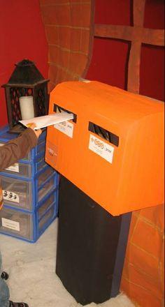 de brievenbus, lieve woordjes sturen naar elkaar