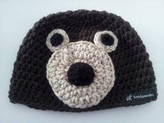 #Bär-#Wintermütze / #Häkelmütze