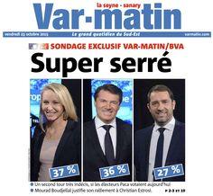 Sondage @Var_Matin  2nd tour :@_AvecMarion 37% - Estrosi 36% - Castaner 27%