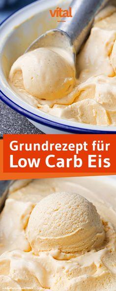 Grundrezept für low carb Eis - Eis mit Schlagsahne und Ei selber machen