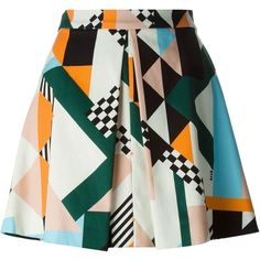 MSGM Printed a-Line Skirt ($171) ❤ liked on Polyvore featuring skirts, bottoms, saias, юбки, multicolour, msgm skirt, msgm, multicolor skirt, knee length a line skirt and a-line skirt