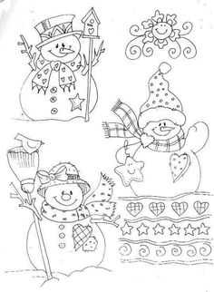 40 Printable Stencil Patterns For Many Uses Stencil Patterns, Embroidery Patterns, Hand Embroidery, Machine Embroidery, Stitching Patterns, Painting Patterns, Christmas Coloring Pages, Coloring Book Pages, Snowman Coloring Pages