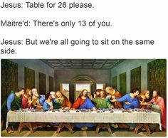 Making Reservations for the Last Supper