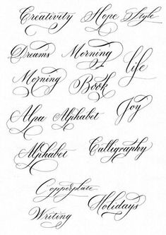 words in cursive calligraphy & words in cursive & words in cursive tattoos & words in cursive calligraphy & words in cursive writing Calligraphy Fonts Alphabet, Flourish Calligraphy, Cursive Alphabet, Copperplate Calligraphy, Learn Calligraphy, Penmanship, Calligraphy Writing, Alphabet Style, Cursive Handwriting