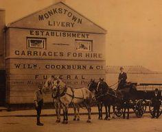 Monkstown Co Dublin. Old Pictures, Old Photos, Vintage Photos, Photo Engraving, Dublin City, Horse Drawn, Ireland, The Past, Victorian