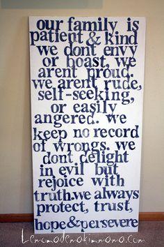1 Corinthians 13 wall art by Lemonademakinmama on Etsy