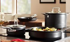 KitchenAid KCSS10 series. This 10-piece cookware set is just gorgeous in its polished stainless steel finish.