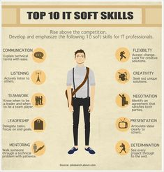 Tope 10 IT Soft Skills - Developing these skills and emphasizing them in your job application and interview will help you rise above the job market competition. Job Interview Questions, Job Interview Tips, Job Resume, Resume Tips, Resume Skills List, Skills To Learn, Life Skills, Vba Excel, Cv Inspiration