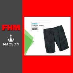 "Bermuda estampada #Macson, en el reportaje de estilo ""Barra libre"", del número de junio de la Revista FHM.#macson #macsonshop"
