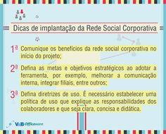 Dicas de implantação da Rede Social Corporativa!  Interessado? Entre em contato conosco!