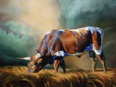 Teresa Elliott Artist - gallery-two Cow Art, Horse Art, Hunting Drawings, Bull Painting, Black And White Sketches, South African Artists, Animal Paintings, Oil Paintings, Horse Paintings
