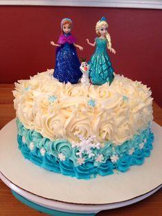 Frozen Birthday Cake, Frozen Theme Party, Frozen Cake, Elsa Doll Cake, Pastel Frozen, Anna Cake, Olaf Cake, Elsa Cakes, Barbie Cake