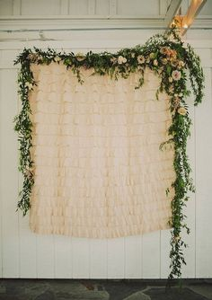 Pretty leafy wedding backdrop