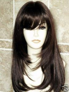 ong Dark Brown Wig