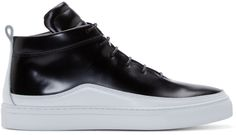 Public School - Black Leather Braeburn Sneakers