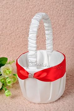 Red White  Flower Basket - eBay