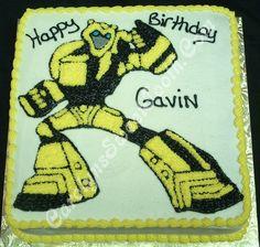 Transformer Sheet Cake Bumblebee Design Avengers