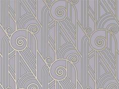 Bradbury & Bradbury | Art Deco Wallpaper | Volute Wallpaper in Periwinkle