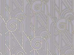 'Volute' art deco wallpaper from Bradbury and Bradbury.
