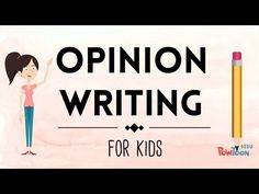 VIDEO: Opinion Writing for Kids | Episode 1 | What Is It?