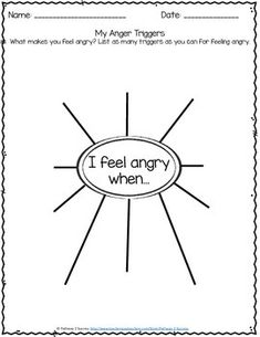 Identifying Triggers for Anger Freebie