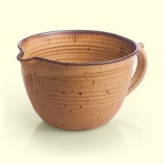 Hand thrown Batter Bowl by Mountain Arts Pottery, Bozeman, MT - shown in Mocha Glaze