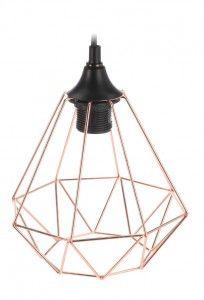 Lampa geometryczna druciana- miedziana nr.3