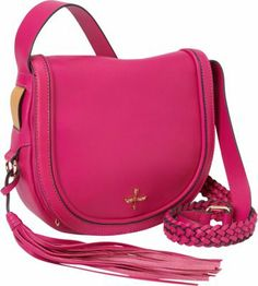 Pour La Victoire Nina Mini Saddle Crossbody - via eBags.com! Pink Crossbody Bag, Mini, Saddle Bags, Designer Handbags, Fashion Backpack, Backpacks, My Love, Style, Designer Bags